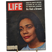 Life Magazine September 12, 1969 Cover - Coretta King's moving account of life with martyred .