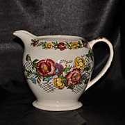 SALE Sadler Milk Pitcher Hand Painted Rose Garden Pattern