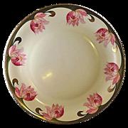 Antique P V Vessra of Germany Floral Hand Painted Porcelain Charger
