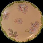 SALE T&V Limoges Charger Serving Plate with Pastel Floral Design