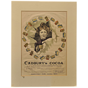 Cadbury's Cocoa Antique Advertising Dated March 2, 1901