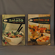 "SALE Two ""Good Housekeeping"" 1958 Cookbooks: Appetizer Book and the Book of Salads"