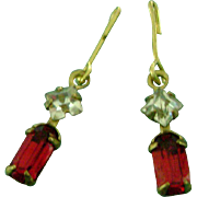 Vintage Doll Jewelry Rhinestone Earrings for Madame Alexander Cissy, Miss Revlon