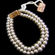 SALE Vintage Orig Madame Alexander Cissy Doll Jewelry Pearl Necklace Miss Revlon