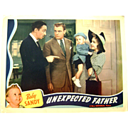 Vintage 1939 Baby Sandy Movie Theater Lobby Card Unexpected Father Anne Gwynne