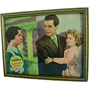 SOLD Vintage 1936 Shirley Temple Movie Theater Lobby Card Poor Little Rich Girl