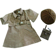 Vintage Orig 1950's Terri Lee Doll TAGGED Clothes Brownie Uniform w/ Hat, Purse