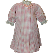 Sweet Pink and White Doll Dress