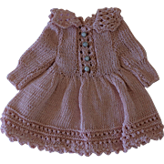 """Sweet Crochetted Doll Dress for around an 8"""" Doll"""