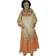 "Vintage 15"" Guatemalan Woman Ethnic Doll"