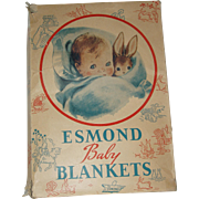 Esmond Baby Blanket In Original Box  Circa 1906-1948