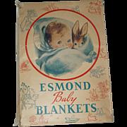 Esmond Baby Blanket In Original Box  Circa 1906-1948
