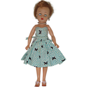 Little Miss Revlon Doll Wearing Tagged Dress  Circa 1955