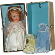 1955 Horsman Doll  8 Inch 'Little Miss Betty' With Wardrobe And Trunk