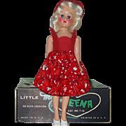 "Little Miss Teena 8""Hard Plastic High Heel Doll In The Box  Circa 1950's"