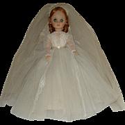 "REDUCED 1966 18"" Madam Alexander 'Elise' Bride Doll"