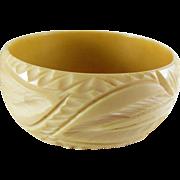 SALE VINTAGE DEEP CARVED Celluloid bangle bracelet in faux Ivory