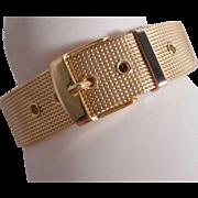 SALE VINTAGE Mesh gold tone belt bracelet