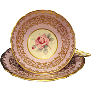 Royal Stafford England Bone China Floral Teacup Saucer