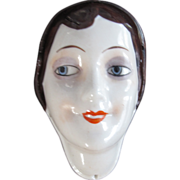 German Hankie Press Half Doll Face Book Piece