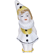 Vintage German Porcelain Clown Full Figure Half Doll