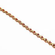 Genuine Garnet Bracelet in 14k Yellow Gold ~ circa 1980's
