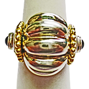 Fili Mageneti Ring in Sterling & Gold ~ circa 1980's