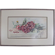 SALE Vintage Water Color Painting ~ ROSES ~ signed G. MacDonald Bell