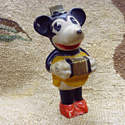 SALE Vintage 1930's Bisque Minnie Mouse ~ Playing Accordion Squeeze Box
