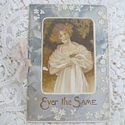 "SALE 1900 era Gift Card Booklet ""Ever After"" ~ Poetry & Color Illustrations"