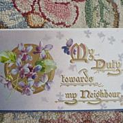 "1900 era Gift Booklet ~ ""My Duty Towards My Neighbor"""