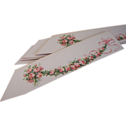REDUCED Vintage Place Cards (12) ~ Pink Rose Garland ~ Table decoration, name cards, Party ...