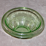 SOLD Hazel Atlas 5 ½ Inch Green Depression glass Rest Well Mixing Bowl