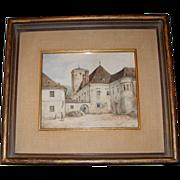 SOLD Edmond Krenn, Austrian – Watercolor Painting