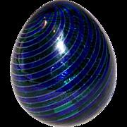 Small Murano signed Venini Art Glass Egg