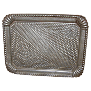 SALE PENDING 19th Century Pressed - Stamped Tin Tray