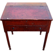 SOLD 19th Century New England School Masters Desk