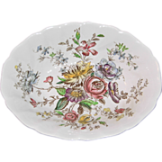 Sheraton (Floral Center) 9 Inch Oval Serving (Vegetable) Bowl by Johnson Bro's