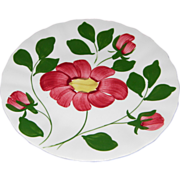 Red Nocturne Bread & Butter Plates by Blue Ridge Southern Potteries