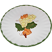County Fair Grapes Pattern Dessert/Salad Plate by Blue Ridge Southern Potteries