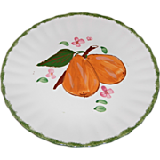 """County Fair """"Pears"""" Pattern Dessert/Salad Plate by Blue Ridge Southern Potteries"""