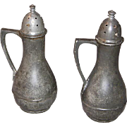 Federal Pewter Salt & Pepper	 Shakers