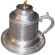 Capen & Molineux Pewter Fluid/Camphene Burner Oil Lamp