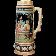 Large German Stoneware Stein