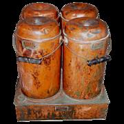 SOLD Antique Four Jar Mudge Patent Canner