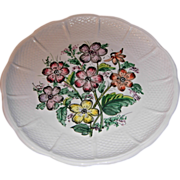 Made In Italy for Bonwit Teller Floral Plate