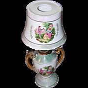 Miniature Royal Vienna Iridescent Oil Lamp