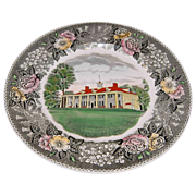 Jonroth England Mount Vernon, Virginia-Souvenir Mulberry Plate
