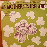 Did Your Mother Come From Ireland - 1936