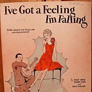 I've Got A Feeling I'm Falling – 1929